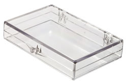 6031008/56 Box with Ball-Hinge Lid, Clear