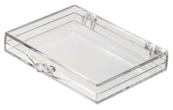 6032008/105 Box with Ball-Hinge Lid, Clear
