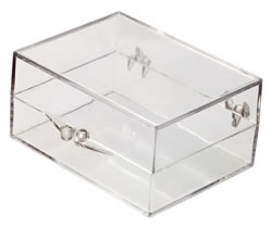 6033008 Box with Ball-Hinge Lid, Clear