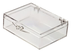 6034008/96 Box with Ball-Hinge Lid, Clear