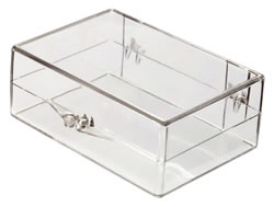 6035008 Box with Ball-Hinge Lid, Clear