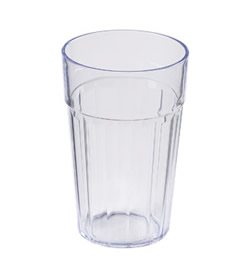 6048008 Fluted Tumbler Reusable SAN 10oz