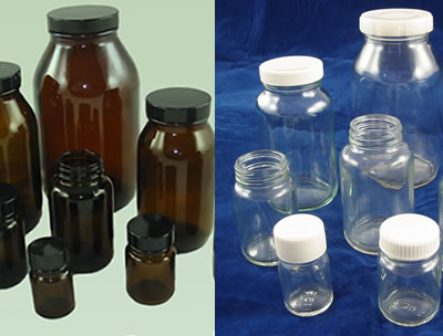 Wide Neck Powder Bottles